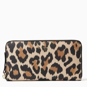 Kate Spade Hyde Lane Leopard Print Michele Wallet